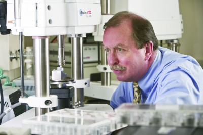 Dr. Robert Kelly, developed the artificial salivary gland that is being commercialized under the Acclerate UConn entrepreneurship program. (Lanny Nagler for UConn Health)