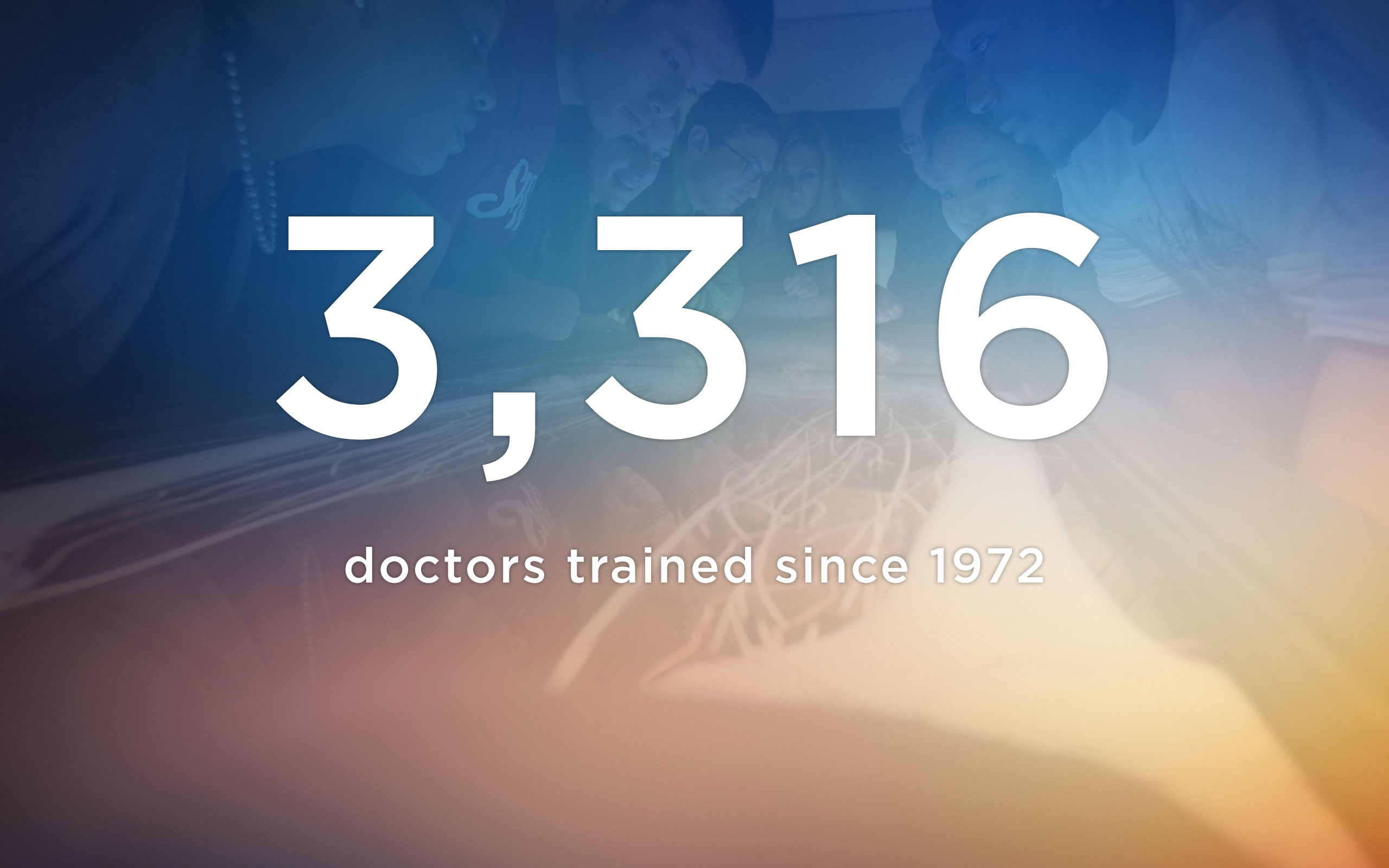 3316 – number of doctors trained since 1972 (as of class of 2015)
