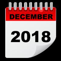 December 2018 calendar