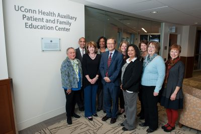 UConn Health Auxiliary Board at Patient and Family Education Center dedication November 2015