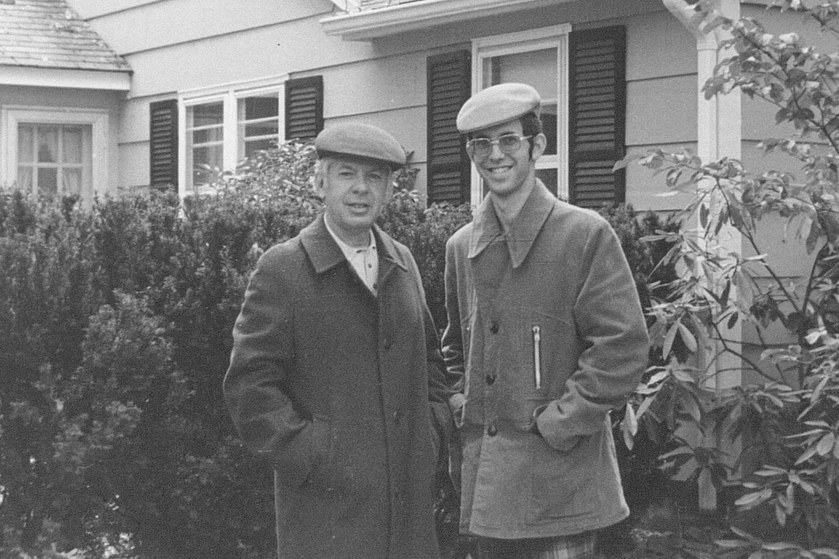 Alan Lurie and his father (1974)