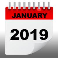 Jan 2019 calendar